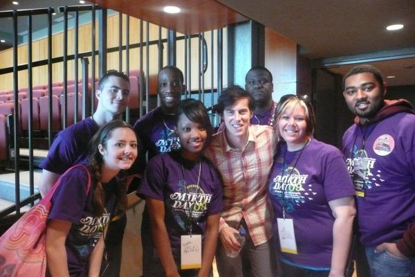 Student Life team with Andrew from Jack's Mannequin
