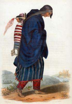 Chippeway Squaw and Child by Charles Bird King