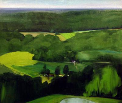 Overlooking the Augusta Valley by Joan Parker