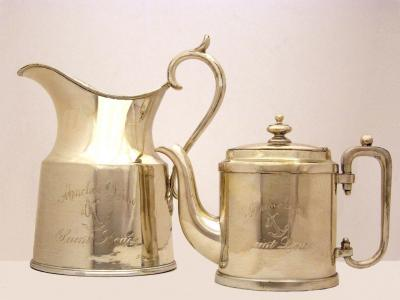 Plated Silver Milk Pitcher and Tea Pot