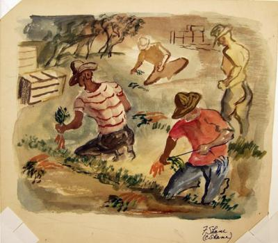Carrot Pickers by Fred Shane